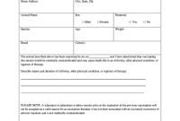 Dog Vaccination Certificate Template 9