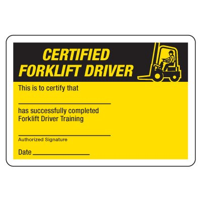 Forklift Certification Template 3