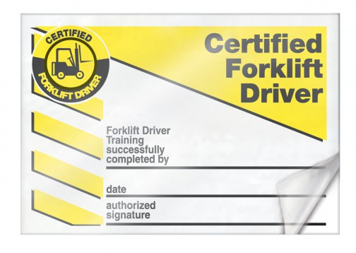 Forklift Certification Template 6
