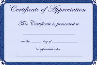 Free Certificate Of Appreciation Template Downloads 2