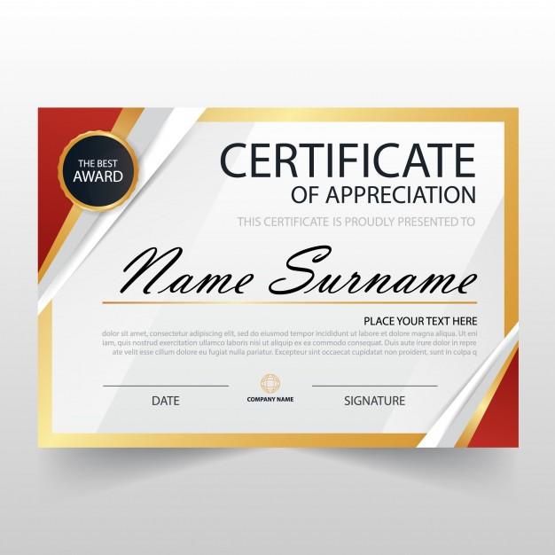 Free Certificate Of Appreciation Template Downloads 5
