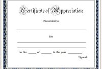 Free Certificate Of Appreciation Template Downloads 7