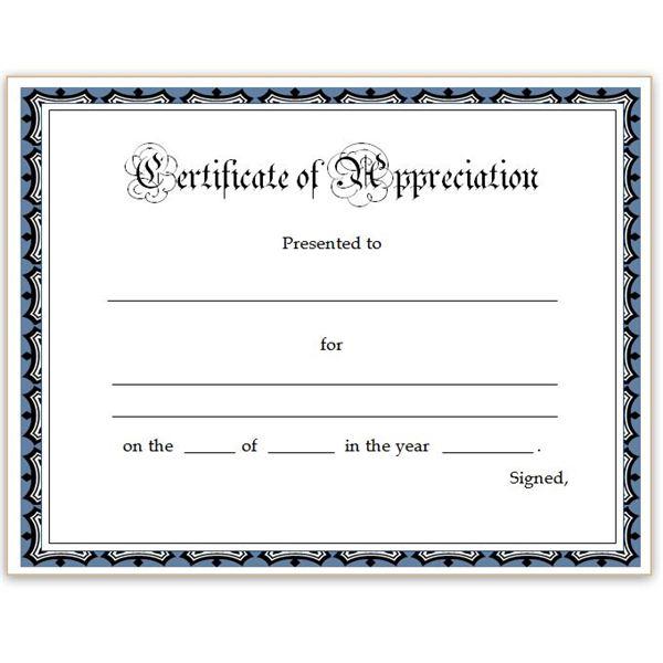 Free Certificate Of Appreciation Template Downloads 7