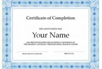 Free Certificate Of Completion Template Word 0