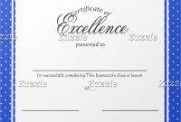 Free Certificate Of Excellence Template 6