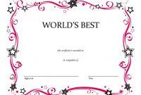 Free Printable Blank Award Certificate Templates 0