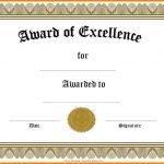 Free Printable Blank Award Certificate Templates