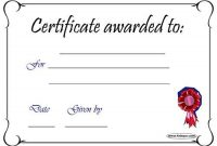 Free Printable Blank Award Certificate Templates 3