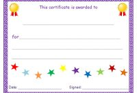 Free Printable Blank Award Certificate Templates 4