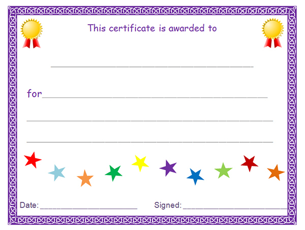 Free Printable Blank Award Certificate Templates 4