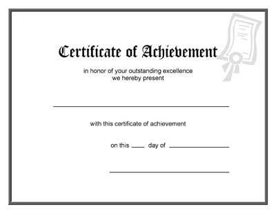 Free Printable Blank Award Certificate Templates 7