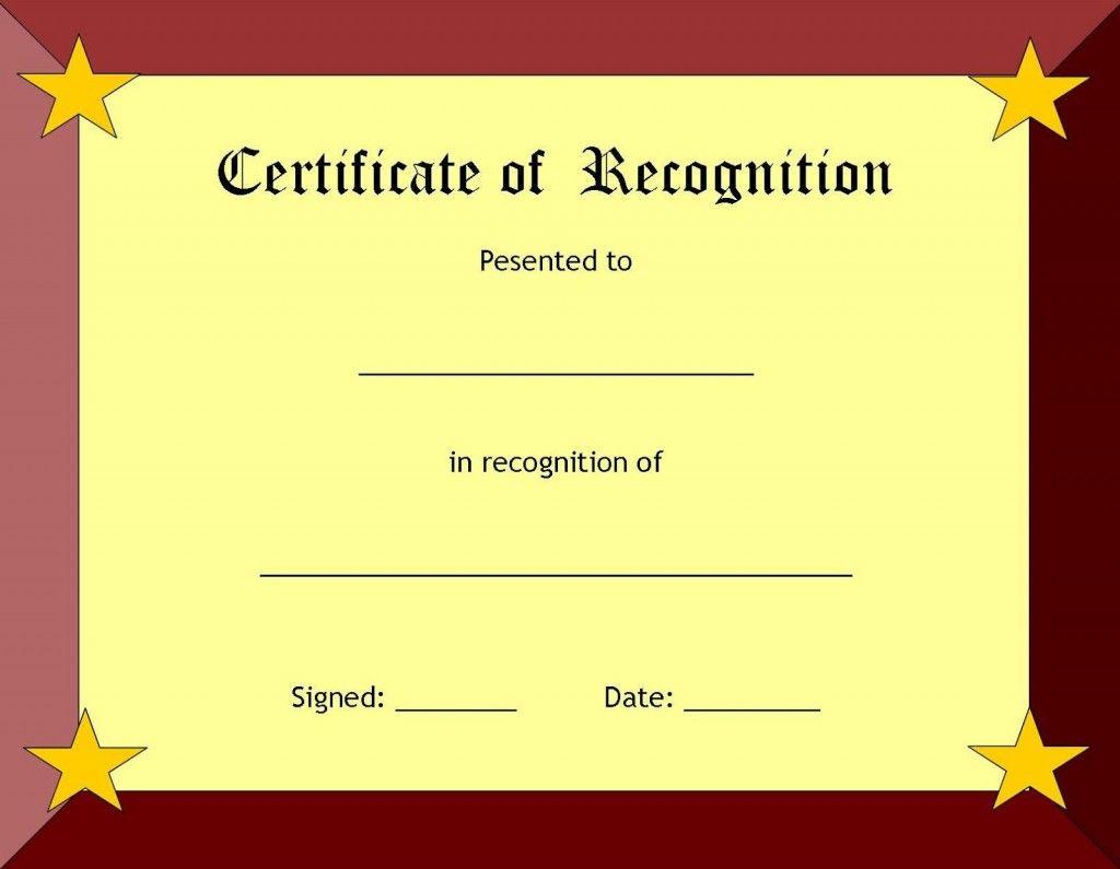 Free Printable Blank Award Certificate Templates 9