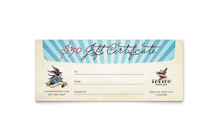 Gift Certificate Template Publisher 0