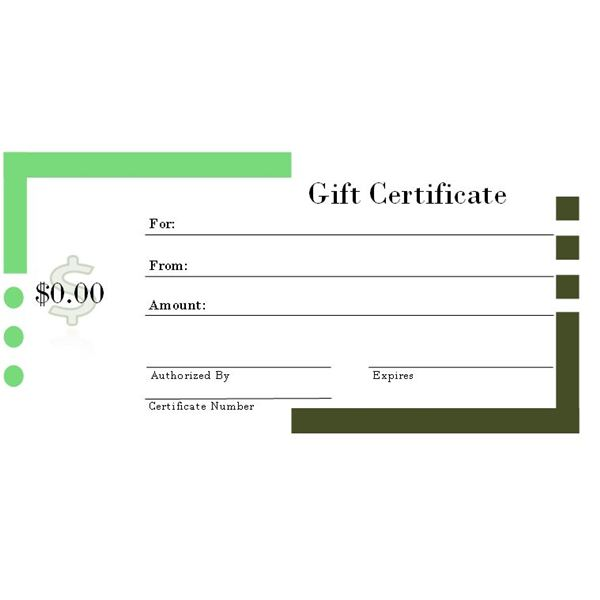 Gift Certificate Template Publisher 2