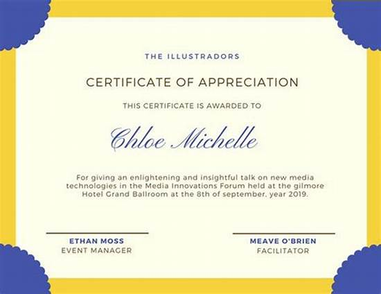 International Conference Certificate Templates 3
