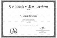 International Conference Certificate Templates 6
