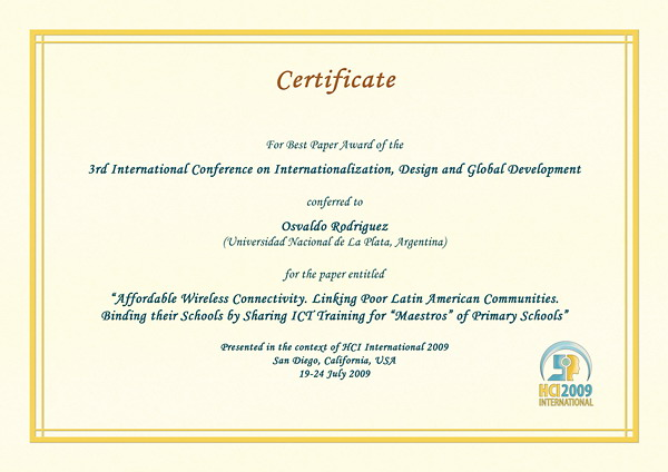 International Conference Certificate Templates 7