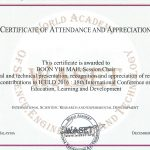 International Conference Certificate Templates