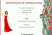Pageant Certificate Template 0