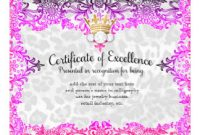 Pageant Certificate Template 9