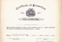 Promotion Certificate Template 0