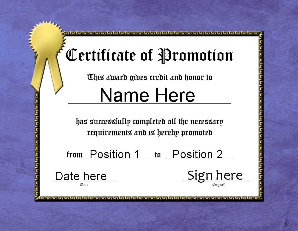Promotion Certificate Template 13