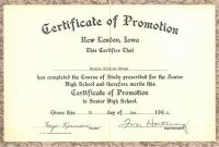 Promotion Certificate Template 2