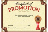 Promotion Certificate Template 3