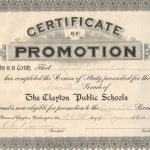 Promotion Certificate Template