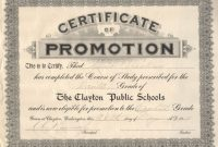 Promotion Certificate Template12