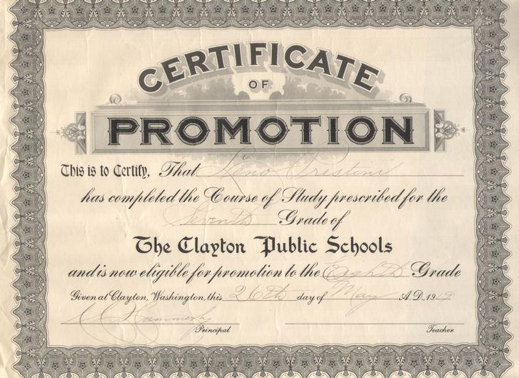 Promotion Certificate Template12