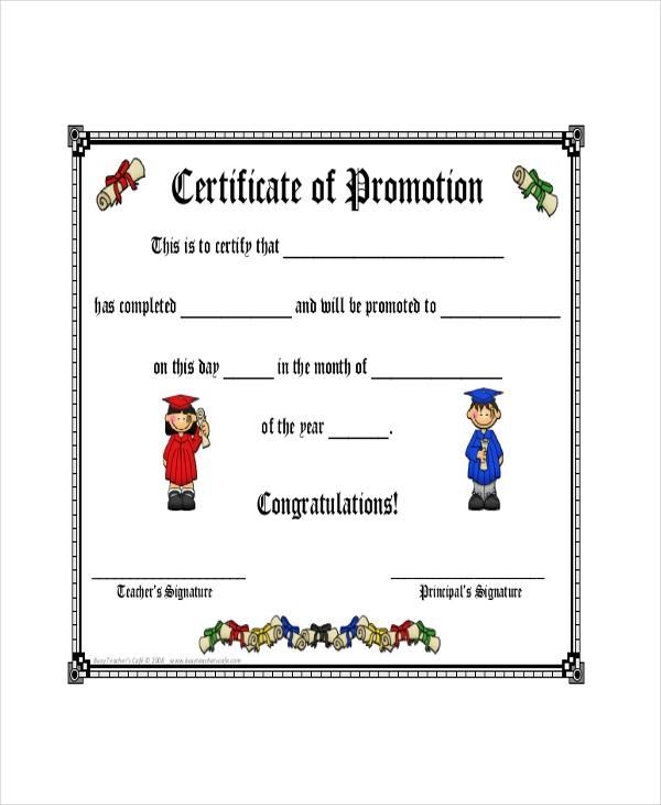 Standard Promotion Certificate Template (18