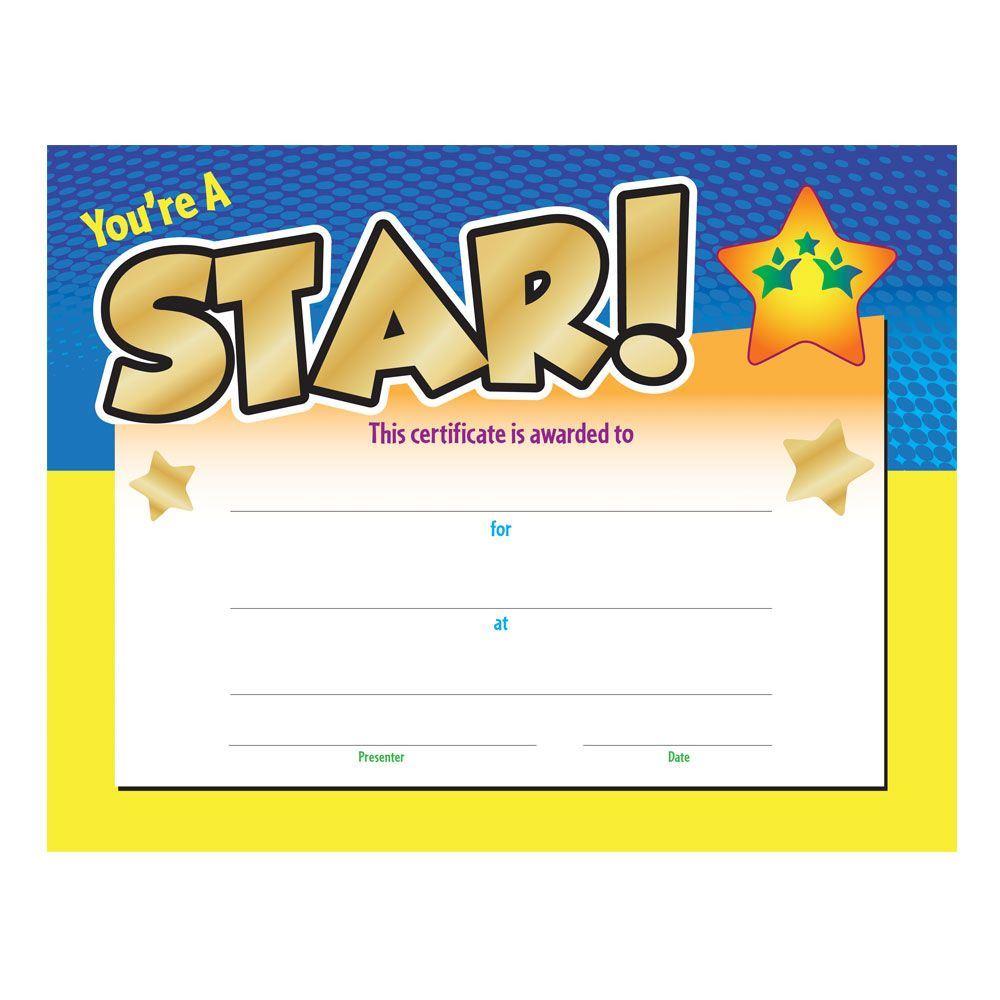 Star Award Certificate Template 0