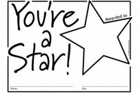 Star Award Certificate Template 2