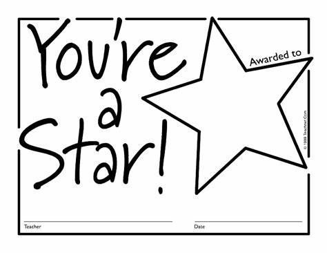 Star Award Certificate Template 2