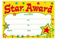 Star Award Certificate Template 4