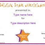 Star Award Certificate Template