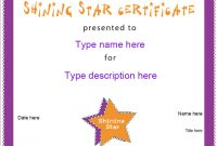 Star Award Certificate Template 5