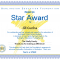 Star Award Certificate Template 6