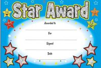 Star Award Certificate Template 7