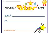 Star Award Certificate Template 8