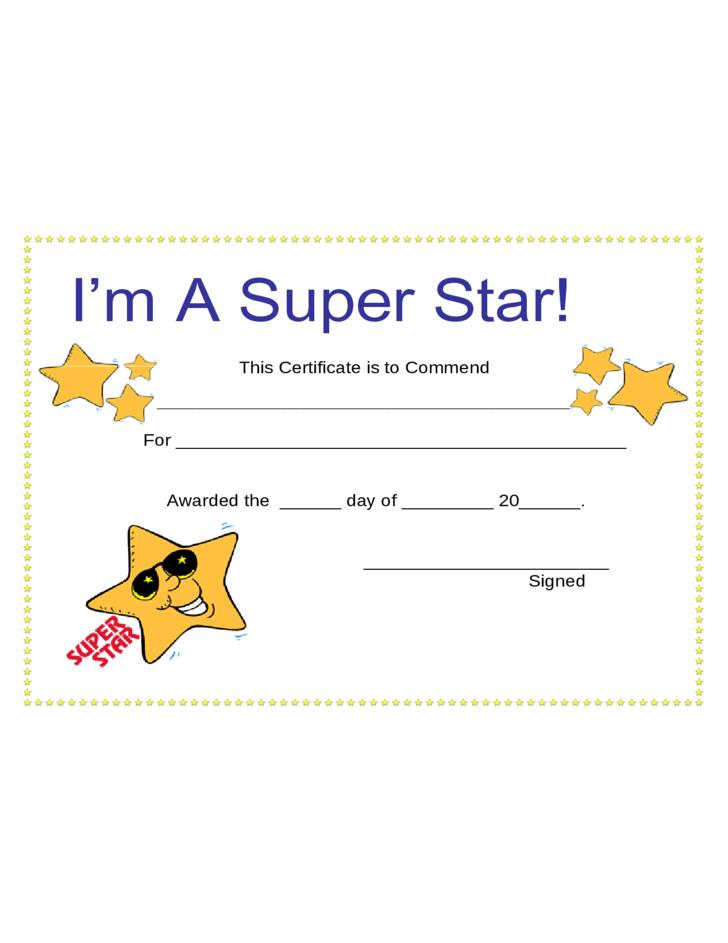 Star Award Certificate Template 9