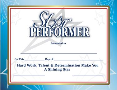 Star Performer Certificate Templates 2