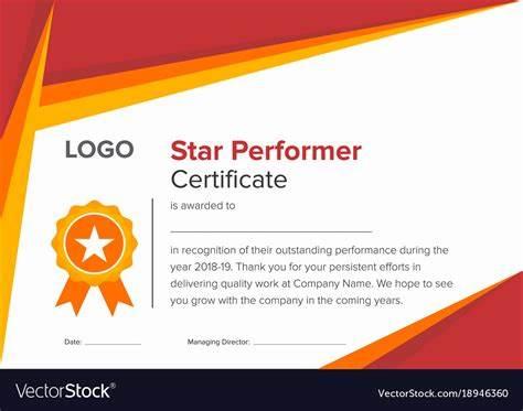 Star Performer Certificate Templates 4