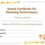 Star Performer Certificate Templates