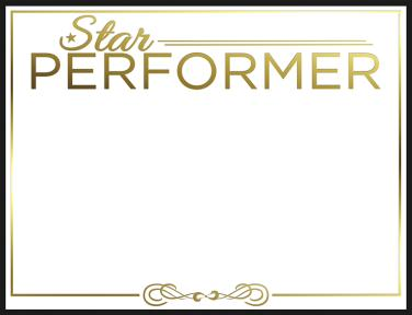 Star Performer Certificate Templates 6