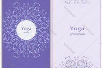 Yoga Gift Certificate Template Free 2