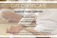 Yoga Gift Certificate Template Free 3