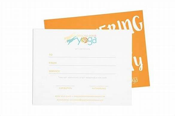 Yoga Gift Certificate Template Free 6