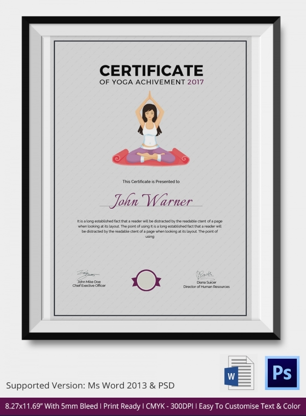 Yoga Gift Certificate Template Free 8